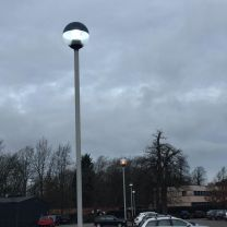 New carpark lighting from old to LED